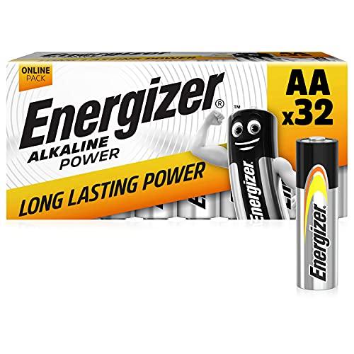 Energizer AA Batteries, Alkaline Power Double A Batteries, 32 P