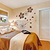 Flores Pegatina De Pared Vinilo Diy Mural Para Casa Sala De Estar Dormitorio Matrimonio Decoración De La Habitación