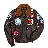 COCKPIT USA Blouson Aviateur en Cuir Navy G-1 Tom Cruise Top Gun Ex AVIREX Made in...