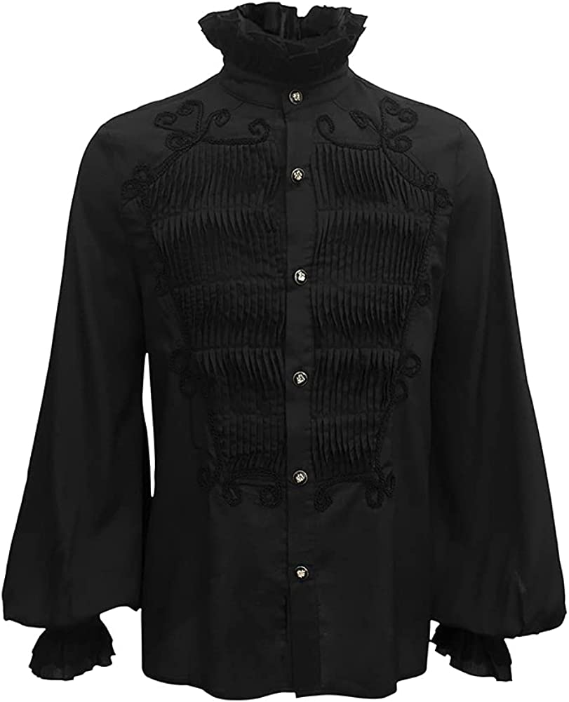 Crubelon Men Steampunk Max 75% OFF Shirts Our shop OFFers the best service Ha Victorian Blouses Gothic