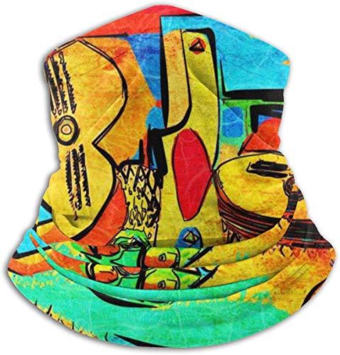 Axige888 Picasso Fleece Neck Warmer - Omkeerbare Nek Gaiter Tube, Veelzijdigheid Oorwarmer Hoofdband & Masker voor Mannen En Vrouwen