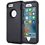 iPhone 6s Plus/6 Plus Case,Heavy Duty Armor 3 in 1 Built-in Screen Protector