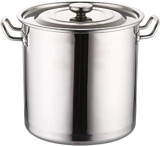 MNSSRN Seau en Acier Inoxydable 304, Seau à Huile épaissi résistant aux brûlures avec Couvercle, marmite à Soupe de Cuisin...
