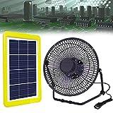 Mini Ventilador USB, Ventiladores Alimentado por Panel Solar con Motor de Alta Eficiencia para Ventiladores de Escape de su Casa, Garaje o RV