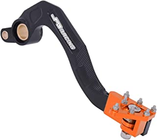 AnXin Motorcycle Rear Brake Pedal Foot Lever for Yamaha YZ450F 10-19,YZ450FX 16-19,WR450F 12-18(Orange)
