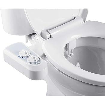 EBTOOLS Bidet Nettoyeur de Toilettes Kit Douchette Bidet pour WC Buse Double Eau Froide//Chaude Hygi/ène Intime Bidet Toilettes Pratique Facile /à Installer Non /électrique