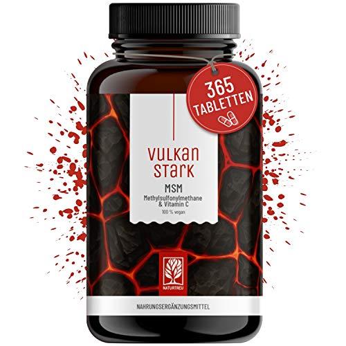 365 MSM Tabletten Hochdosiert - 2000mg MSM mit natürlichem Vitamin C aus Acerola - Vorrat für 6 Monate - alternative zu MSM Kapseln hochdosiert - Methylsulfonylmethan vegan laborgeprüft