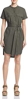 Theory Women's Short Sleeve Belted Cargo Button Down Dress
