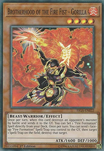 Yu-Gi-Oh! - Brotherhood of The Fire Fist - Gorilla - FIGA-EN022 - Super Rare - 1st Edition - Fists of The Gadgets