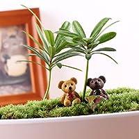 Amuzocity 10ピース/いたミニチュアベアデコレーションマイクロランドスケープ盆栽ミニガーデンDIY