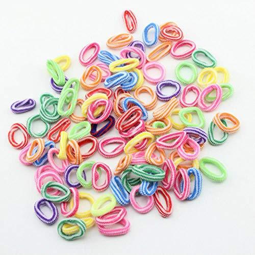 Gouen 100 stks veel kleurrijke kind kids haarleuke rubberen haarband elastieken accessoires meisje charms tie gum, 2.100 stks