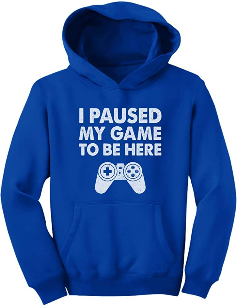 I Paused My Game To Be Here Youth For Hoodie Gift Las Vegas Mall Gamer Direct store Funny