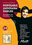 Kleinert's Ultra Absorbent, Super Thin, Disposable, Peel & Stick Enlarged Underarm Pads For Men. Protects Against Sweat Stains and Odors. Save On Dry Cleaning. (24 Pads). Great Sweat & Odor Blocker.