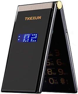 "Tkexun M2 Men Flip Touch Big Screen 3.0"" Dual Sim Card Metal Body Mobile Cell Phone (Black)"