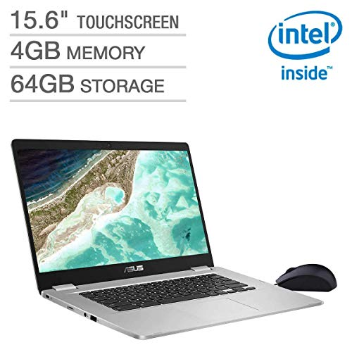 2019 Asus 15.6' FHD Touchscreen Thin and Light Chromebook Laptop Computer, Intel Quad-Core Pentium N4200 up to 2.5GHz, 4GB DDR4 RAM, 64GB eMMC, 802.11ac WiFi, Bluetooth 4.0, USB 3.1, Chrome OS