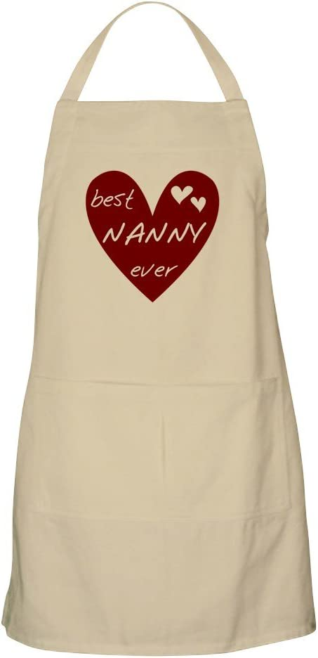 security CafePress Heart Best Nanny Ever Apron Gril with Pockets Ranking TOP11 Kitchen