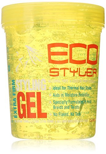 ECO Styler 907 g Yellow Extra Firm Professional Hair Styling Gel by Eco Styler