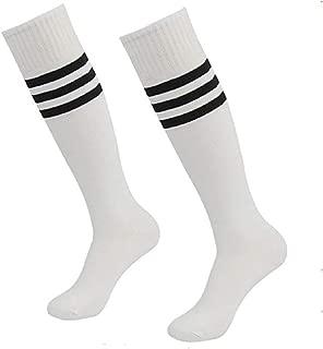 Soccer Tube Socks,Getspor Unisex Football Knee High Socks with Stripe 2/4/6/12 Pairs
