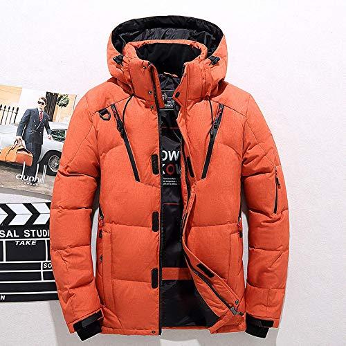 Grad Winter Daunenjacken Männer Casual Hooded White Duck Down Parkas Dicker Warmer Schneemantel Windbreaker Jacke Daunen Parkas XL Orange