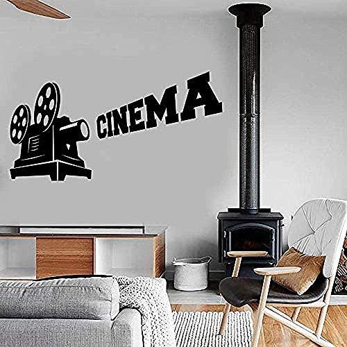 Pegatinas de vinilo para pared Decoración de pared Cine Arte Cámara Cine Increíble decoración del hogar Accesorios de películas Decoración del hogar 81X42Cm