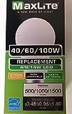 LED 3-Way 40/60/100W A19 500/1000/1500 Lumens E26 Base