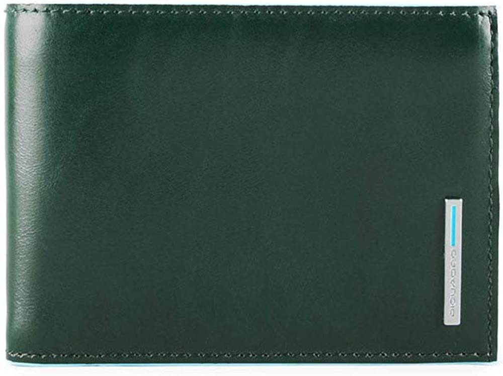 Piquadro blue square portafoglio porta carte di credito per uomo in pelle protezione rfid ? PU1392B2R-VERDE FORESTA