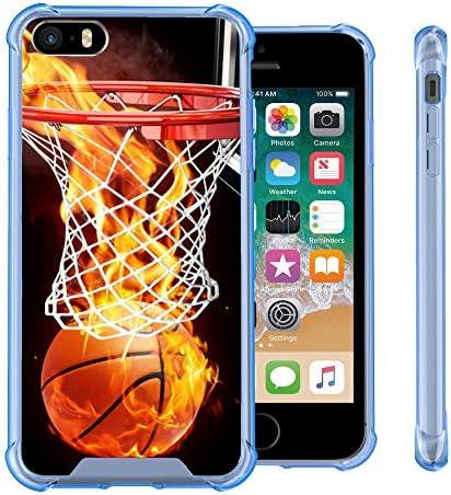 Untouchble Compatible with Apple iPhone SE 5 5s Case Flex MAX Blue Ultra Slim Flexible TPU Case product image