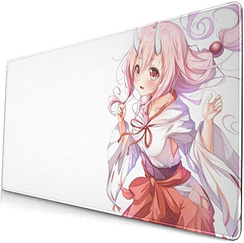 BOIPEEI RGB Mouse Mat, Ten-sei Shit-ara SLI-me Da-TTA Ken Large Gaming Mouse Pad with Non-Slip Computers Laptop Office(30x80cm)