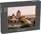 monpuzzlephoto Puzzle 2000 pièces Le château Frontenac dans Le Vieux-Québec dans la Belle lumière du Lever du Soleil