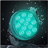 PRECORN - Luz LED impermeable para acuario jardín baño decoración UVM piscina iluminación LED subacuática con 13 LED