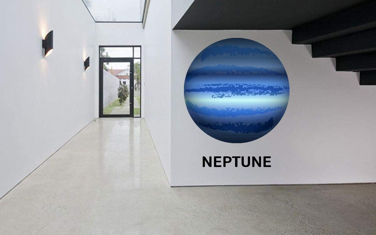 Neptune Planet Space Wall Vinyl Sticker Challenge the lowest price of Japan Car Deco famous Decal Art Mural