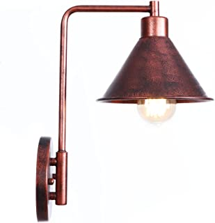 Wall-Light Vintage Wall-Sconce 1-Light Wall Mount Lights Industrial Retro Iron Wall-Lamp Rust