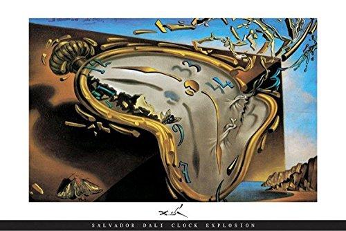 Póster Reloj blando en el momento de su primera explosión. Salvador Dalí