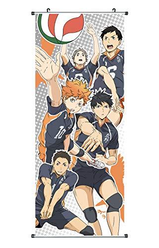 CoolChange Großes Haikyu !!! Rollbild | Kakemono aus Stoff | Poster 100x40cm | Motiv: Karasuno Volleyballteam
