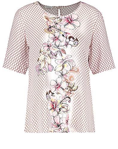 Gerry Weber Damen 360025-31684 Bluse, Mehrfarbig (Ecru/Biscuit/Flamingo D 9108), (Herstellergröße: 46)