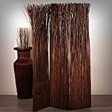Design RAUMTEILER Nature | 160x120 cm (LxB), Weidenholz, braun | Raumtrenner, Trennwand, Paravent