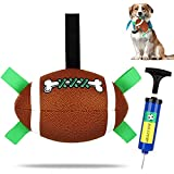 Dog Toy Football, Interactive Dog Toys for Tug of War, Dog Tug Toy, Dog Water Toy, Durable Dog Balls with Grab Tabs for Small & Medium Dogs