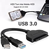 "Buyyart New USB 3.0 to SATA 22P 2.5"" Hard Disk Driver, Desktop DVD"