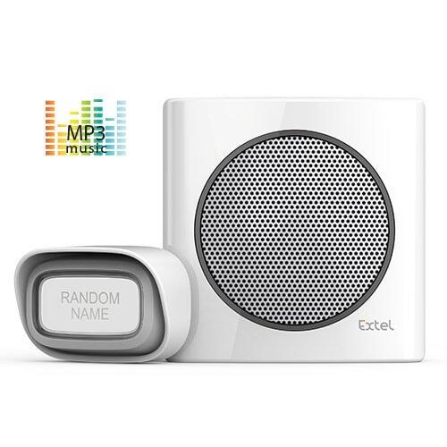 Extel–Türklingel zum Anschluß an Steckdose–Kabellos 200m–EXTEL DIBI MP3