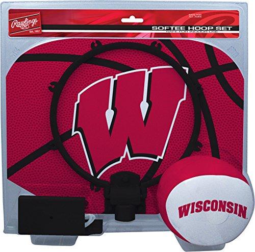 NCAA Wisconsin Badgers Kids Slam Dunk Hoop Set, Red, Small