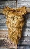 ESTRO | Tappeto in Pelle di Pecora Icelandic Autentico | Brillante e Lussuoso | varietà di Colori ESI (Ruggine, 100 cm)
