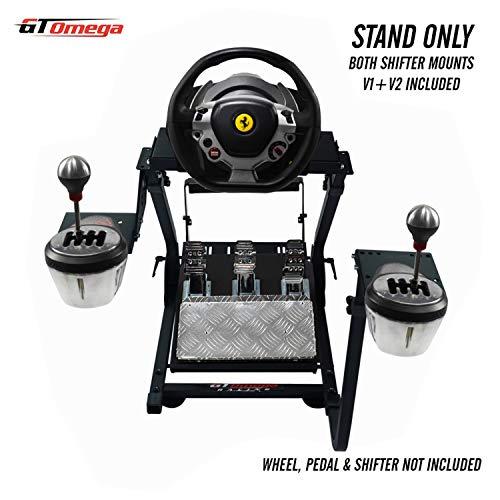 GT OMEGA support de volant pour volant Thrustmaster TX Racing Ferrari 458 Italia & Pédales, Xbox One, PC - Compact, pliable et inclinable pour une expérience de console de jeu ultime