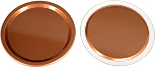 Copper Colored Aluminum Flat Storage Lid Inserts for Mason Jars (10 Pack, Wide Mouth)
