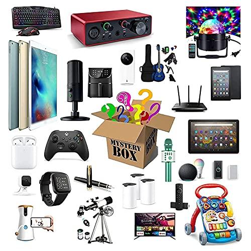 Mystery Box Electronics, Cajas Sorpresa De Cumpleaños Al Azar Lucky Box Juguetes para Aliviar El Estrés para Adultos Regalo Sorpresa, como Drones, Relojes Inteligentes, Gamepads Y Más