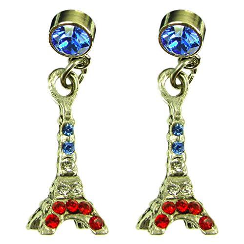 Rose Clair Cristal De Swarovski invisible Clip Sur Boucles D/'oreille Strass Clip-on