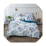 sensitives Bedding Set Pure Color Silk Plant Flowers Fashion Patterns Bed Sheet Quilt Cover Pillowcase 4 7pcs, VE-1016,Family,Flat Bed Sheet