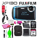 Fujifilm FinePix XP130 Waterproof Digital Camera (Sky Blue) Accessory...