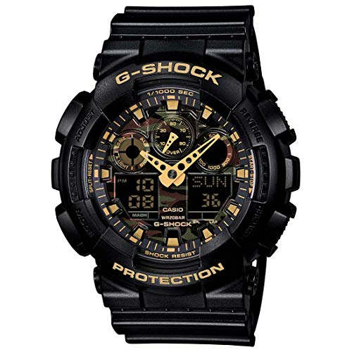 Casio G-Shock Analog-Digital Multi-Colour Dial Men's Watch-GA-100CF-1A9DR (G519)