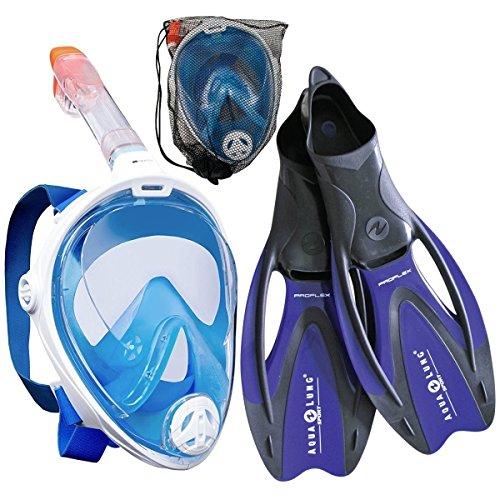 Aqua Lung Proflex Full Face Flossen Set Schnorchel Set Flossenset Schnorchelset
