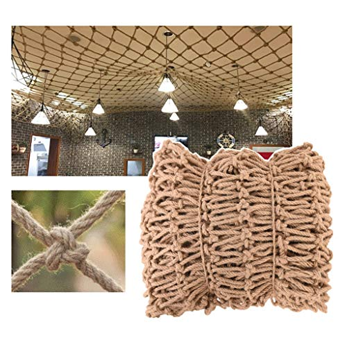 Garden Railing Stairs Kids Anti-Fall Net, Kids Net Jute Netting Cafe Nets Bar Cafe Bookstore Industrial Wind Punk Decoration Ceiling Net 12mm/15cm Multiple Sizes ( Size : 6*10M(19.7*32.8ft) )